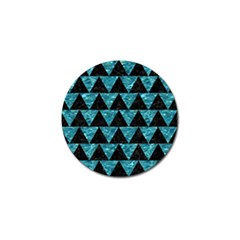 Triangle2 Black Marble & Blue Green Water Golf Ball Marker by trendistuff