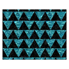 Triangle2 Black Marble & Blue Green Water Jigsaw Puzzle (rectangular) by trendistuff