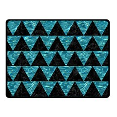 Triangle2 Black Marble & Blue Green Water Double Sided Fleece Blanket (small) by trendistuff