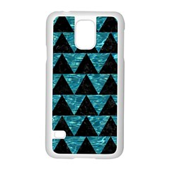 Triangle2 Black Marble & Blue Green Water Samsung Galaxy S5 Case (white) by trendistuff
