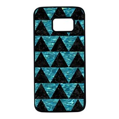 Triangle2 Black Marble & Blue Green Water Samsung Galaxy S7 Black Seamless Case by trendistuff