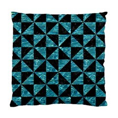 Triangle1 Black Marble & Blue Green Water Standard Cushion Case (one Side) by trendistuff