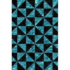 Triangle1 Black Marble & Blue Green Water 5 5  X 8 5  Notebook by trendistuff