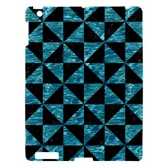 Triangle1 Black Marble & Blue Green Water Apple Ipad 3/4 Hardshell Case by trendistuff