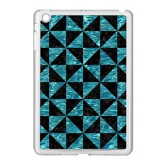Triangle1 Black Marble & Blue Green Water Apple Ipad Mini Case (white) by trendistuff
