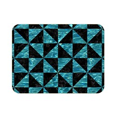 Triangle1 Black Marble & Blue Green Water Double Sided Flano Blanket (mini) by trendistuff