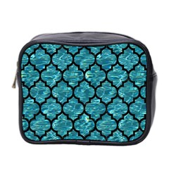 Tile1 Black Marble & Blue Green Water (r) Mini Toiletries Bag (two Sides) by trendistuff