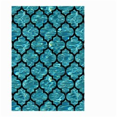 Tile1 Black Marble & Blue Green Water (r) Small Garden Flag (two Sides) by trendistuff