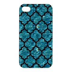 Tile1 Black Marble & Blue Green Water (r) Apple Iphone 4/4s Premium Hardshell Case by trendistuff