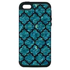 Tile1 Black Marble & Blue Green Water (r) Apple Iphone 5 Hardshell Case (pc+silicone) by trendistuff