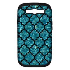 Tile1 Black Marble & Blue Green Water (r) Samsung Galaxy S Iii Hardshell Case (pc+silicone) by trendistuff