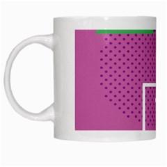 Behance Feelings Beauty Polka Dots Leaf Triangle Tropical Pink White Mugs by Mariart