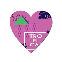Behance Feelings Beauty Polka Dots Leaf Triangle Tropical Pink Heart Magnet by Mariart