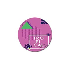 Behance Feelings Beauty Polka Dots Leaf Triangle Tropical Pink Golf Ball Marker (10 Pack) by Mariart