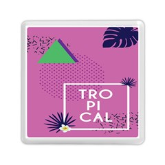 Behance Feelings Beauty Polka Dots Leaf Triangle Tropical Pink Memory Card Reader (square)  by Mariart