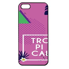 Behance Feelings Beauty Polka Dots Leaf Triangle Tropical Pink Apple Iphone 5 Seamless Case (black) by Mariart