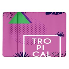 Behance Feelings Beauty Polka Dots Leaf Triangle Tropical Pink Samsung Galaxy Tab 10 1  P7500 Flip Case by Mariart