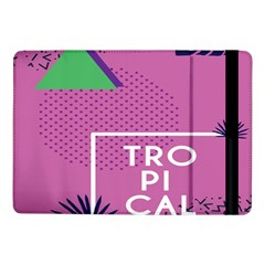 Behance Feelings Beauty Polka Dots Leaf Triangle Tropical Pink Samsung Galaxy Tab Pro 10 1  Flip Case by Mariart