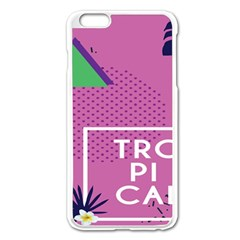 Behance Feelings Beauty Polka Dots Leaf Triangle Tropical Pink Apple Iphone 6 Plus/6s Plus Enamel White Case by Mariart