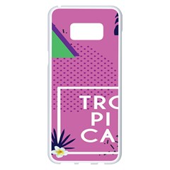 Behance Feelings Beauty Polka Dots Leaf Triangle Tropical Pink Samsung Galaxy S8 Plus White Seamless Case