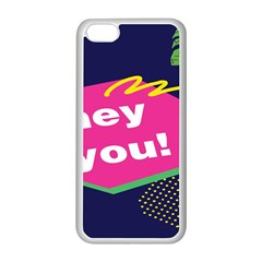 Behance Feelings Beauty Hey You Leaf Polka Dots Pink Blue Apple Iphone 5c Seamless Case (white) by Mariart