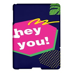 Behance Feelings Beauty Hey You Leaf Polka Dots Pink Blue Samsung Galaxy Tab S (10 5 ) Hardshell Case  by Mariart