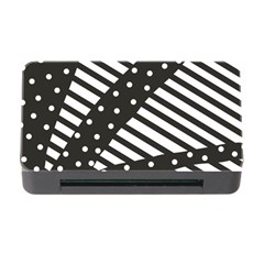 Ambiguous Stripes Line Polka Dots Black Memory Card Reader With Cf by Mariart