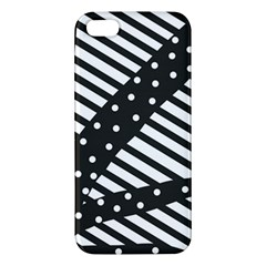 Ambiguous Stripes Line Polka Dots Black Iphone 5s/ Se Premium Hardshell Case by Mariart