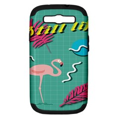 Behance Feelings Beauty Flamingo Bird Still Life Leaf Green Pink Red Samsung Galaxy S Iii Hardshell Case (pc+silicone) by Mariart