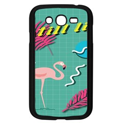 Behance Feelings Beauty Flamingo Bird Still Life Leaf Green Pink Red Samsung Galaxy Grand Duos I9082 Case (black) by Mariart