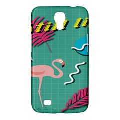 Behance Feelings Beauty Flamingo Bird Still Life Leaf Green Pink Red Samsung Galaxy Mega 6 3  I9200 Hardshell Case by Mariart