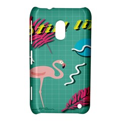 Behance Feelings Beauty Flamingo Bird Still Life Leaf Green Pink Red Nokia Lumia 620 by Mariart