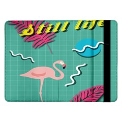 Behance Feelings Beauty Flamingo Bird Still Life Leaf Green Pink Red Samsung Galaxy Tab Pro 12 2  Flip Case by Mariart