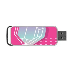 Behance Feelings Beauty Polka Dots What Ever Leaf Diamon Pink Portable Usb Flash (two Sides) by Mariart