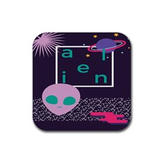 Behance Feelings Beauty Space Alien Star Galaxy Rubber Square Coaster (4 Pack)  by Mariart