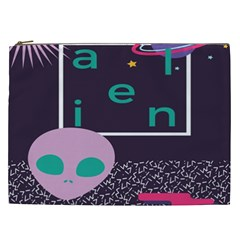 Behance Feelings Beauty Space Alien Star Galaxy Cosmetic Bag (xxl)  by Mariart