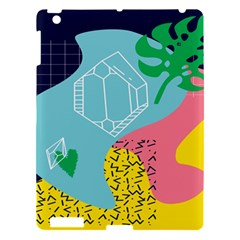Behance Feelings Beauty Waves Blue Yellow Pink Green Leaf Apple Ipad 3/4 Hardshell Case by Mariart