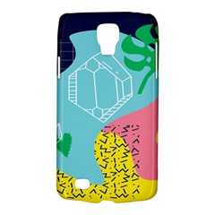 Behance Feelings Beauty Waves Blue Yellow Pink Green Leaf Galaxy S4 Active by Mariart