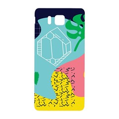 Behance Feelings Beauty Waves Blue Yellow Pink Green Leaf Samsung Galaxy Alpha Hardshell Back Case by Mariart