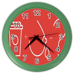Caffeine And Breastfeeding Coffee Nursing Red Sign Color Wall Clocks by Mariart