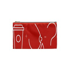 Caffeine And Breastfeeding Coffee Nursing Red Sign Cosmetic Bag (small)  by Mariart