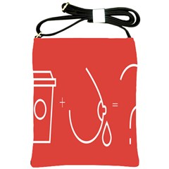 Caffeine And Breastfeeding Coffee Nursing Red Sign Shoulder Sling Bags by Mariart