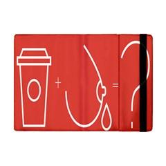 Caffeine And Breastfeeding Coffee Nursing Red Sign Apple Ipad Mini Flip Case by Mariart