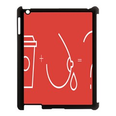 Caffeine And Breastfeeding Coffee Nursing Red Sign Apple Ipad 3/4 Case (black) by Mariart