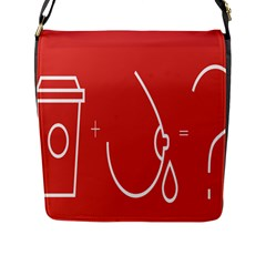 Caffeine And Breastfeeding Coffee Nursing Red Sign Flap Messenger Bag (l)  by Mariart