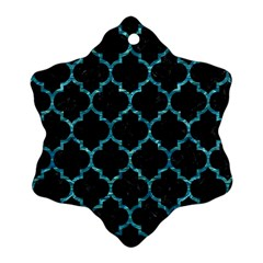 Tile1 Black Marble & Blue Green Water Ornament (snowflake) by trendistuff