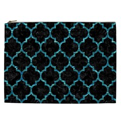 Tile1 Black Marble & Blue Green Water Cosmetic Bag (xxl) by trendistuff