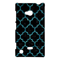 Tile1 Black Marble & Blue Green Water Nokia Lumia 720 Hardshell Case by trendistuff