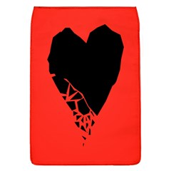 Broken Heart Tease Black Red Flap Covers (l)  by Mariart