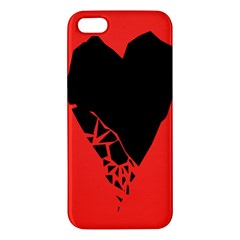Broken Heart Tease Black Red Iphone 5s/ Se Premium Hardshell Case by Mariart